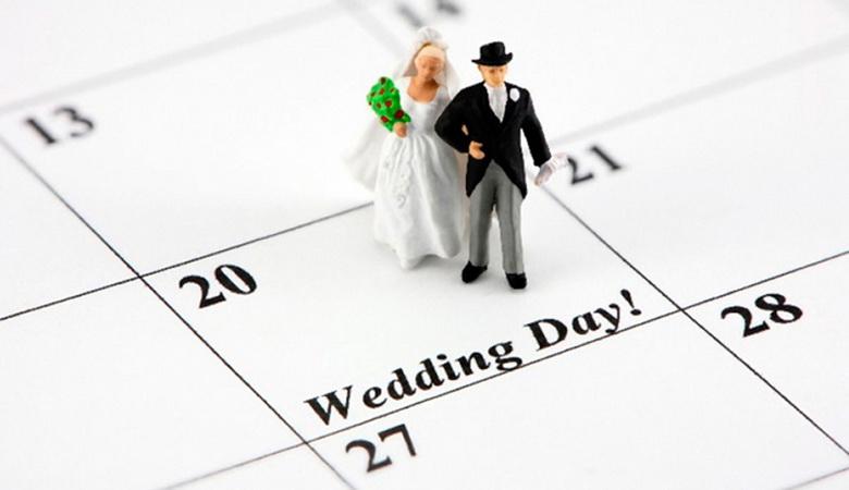 Красиві весільні дати в 2020 році, календар