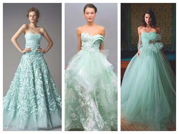 Дівчата у модних весільних сукнях