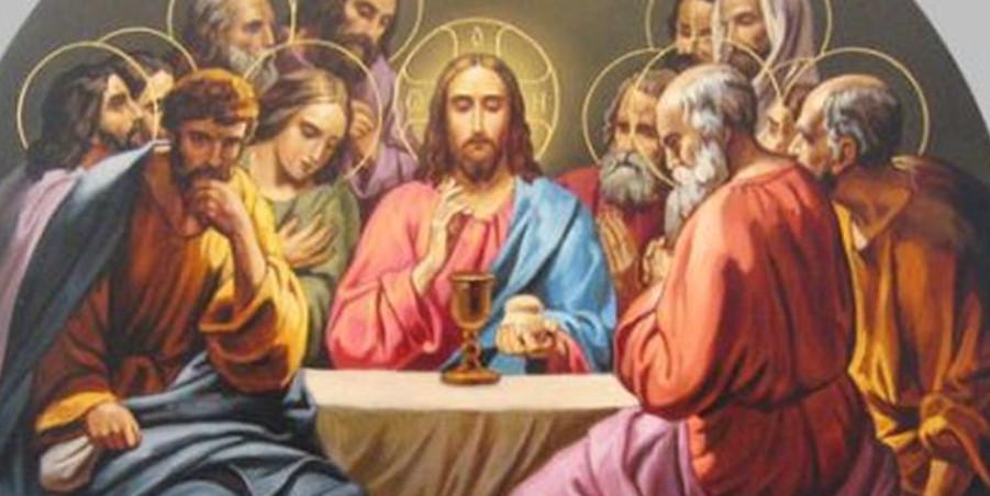 Зібрання апостолів біля Ісуса Христа, та зрада Іуди