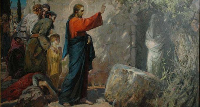 Ісус знайшов Лазаря в печері