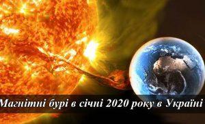 Коли будуть магнітні бурі в січні 2020 року