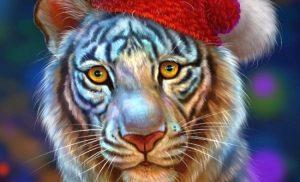 Новорічні листівки на рік Тигра 2022: безкоштовні картинки з символом року!